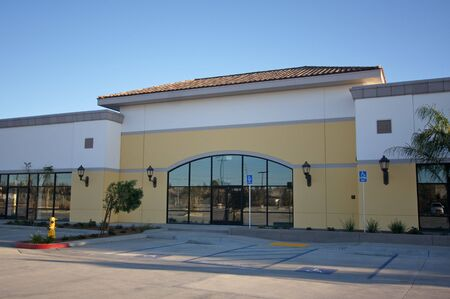 commercial real estate: New Vacant Retail Building & Parking Spaces.