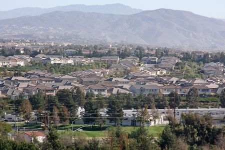 Elevated View of New Contemporary Suburban Neighborhoods. Stock Photo - 2150446