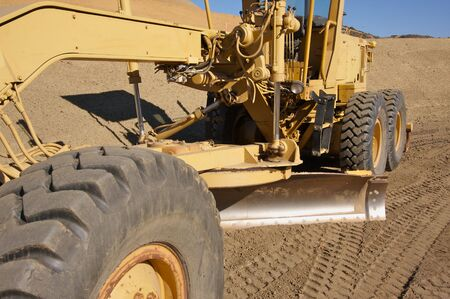 heavy industry: Tractor at a Cunstruction Site and dirt lot.