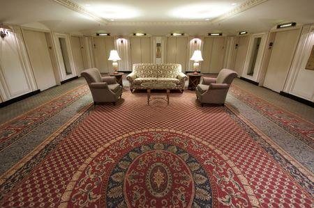 hotel: Classic Elevator Lobby Interior of a Hotel