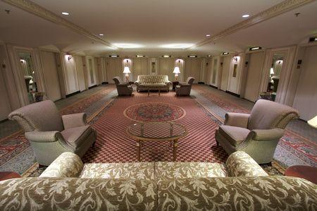 Klassieke lift lobby binnenlandse zaken van een hotel