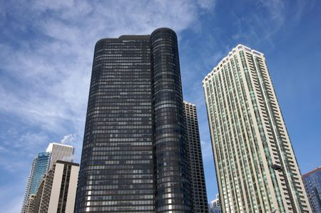 Modern buildings and condominiums in downtown Chicago photo
