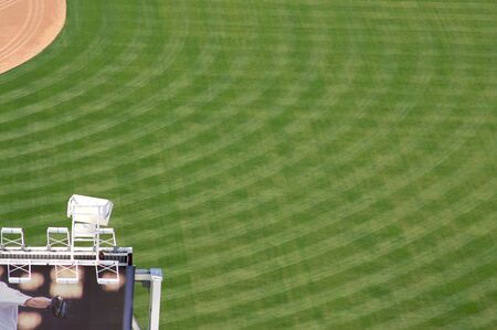 outfield: View of Petco Park Stadium Outfield during the day - San Diego
