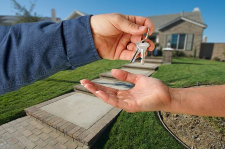 Handing Over the Keys to A New Home Stock Photo - 2405266