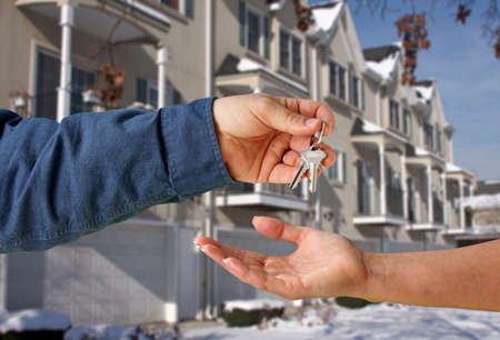 Handing Over the Keys to A New Apartment Stock Photo - 2438163