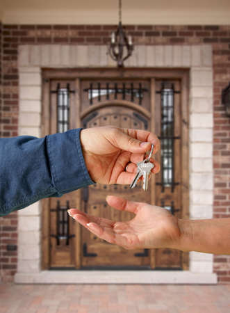 Handing Over the Keys to A New Home Stock Photo - 2438160