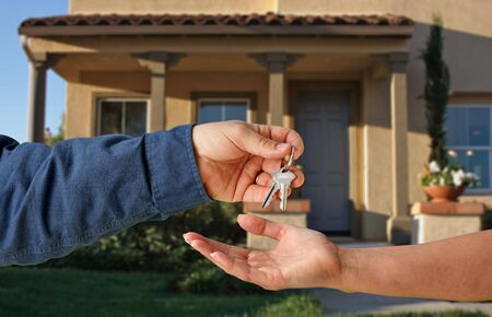 Handing Over the Keys to A New Home Stock Photo - 2438164