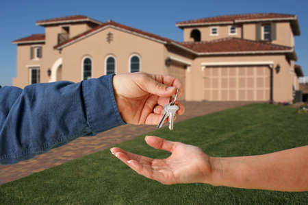 Handing Over the Keys to A New Home Stock Photo - 2438166