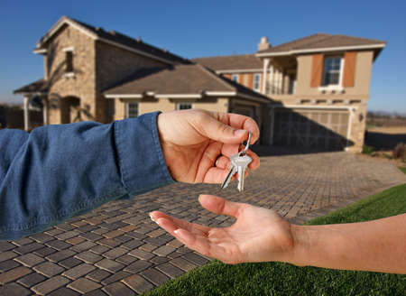 Handing Over the Keys to A New Home Stock Photo - 2438170