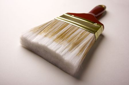 bristles: Dramatic Angle of Paint Brush - Focus is on the Bristles.