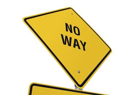 daremny: No Way znak drogowy wyizolowanych na białym tle. Zdjęcie Seryjne