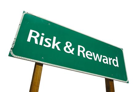 Risk and Reward road sign isolated on white. Contains clipping path. Stock Photo - 2644717