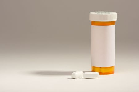 Blank Prescription Bottle and Pills with room for your own copy. Stock Photo - 2726987