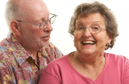 Happy Senior Couple poses for portrait.  Stock Photo - 2866868