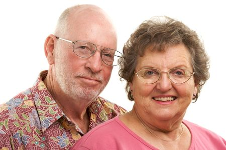 Happy Senior Couple poses for portrait. Stock Photo - 2866872