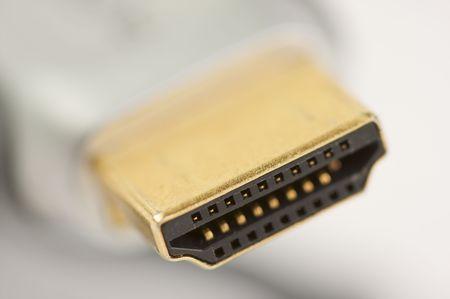 hdmi: Macro Shot of HDMI Cable Stock Photo