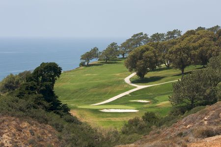 View from Torrey Pines Golf Course in San Diego California photo