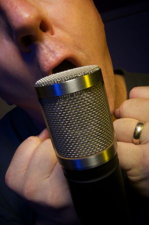 vocalist: Passionate Vocalist and Microphone
