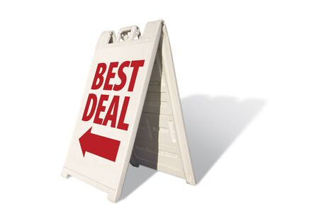 Best Deal Tent Sign Isolated on a White Background.
