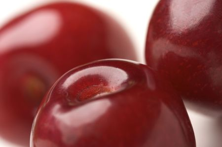 Abstract Macro Image of Cherries. photo