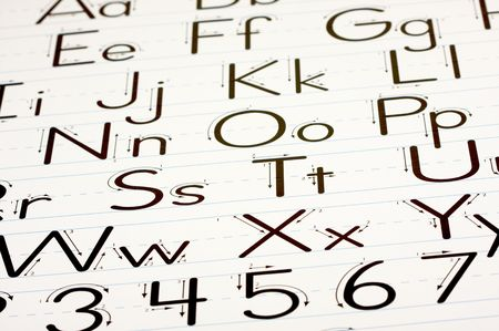 Back to School Learning Letters Chart Stock Photo - 3313857