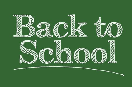 Back To School Illustrated on a Chalk Board. Stock Photo - 3392395