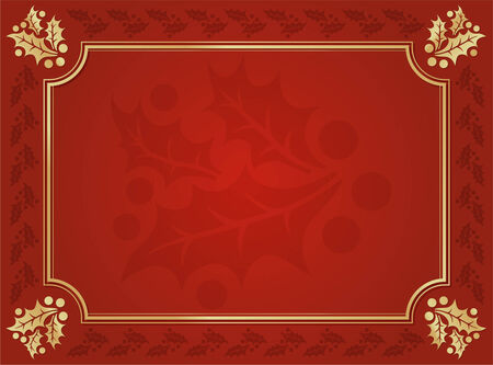 holly berry: Elegant Holly Lined Background