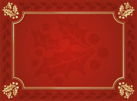 navidad elegante: Elegante Holly fondo rayado