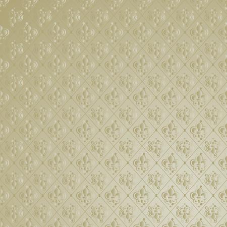 Unique Vintage Fleur de Lis Wallpaper Background. Vector