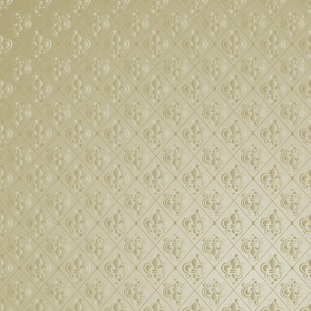 tileable: Unique Vintage Fleur de Lis Wallpaper Background. Illustration