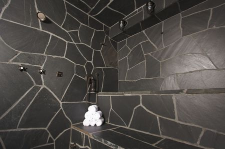 Custom Slate River Rock Steam Room