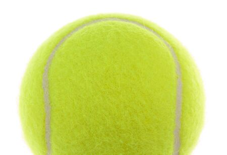Tennis Ball Macro on a White Background