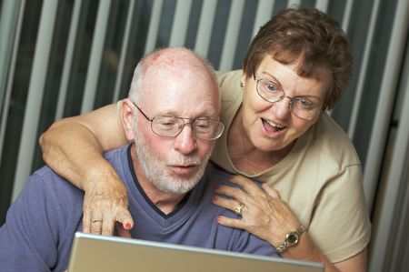 Senior Adults on Working on a Laptop Computer Stock Photo - 3785889