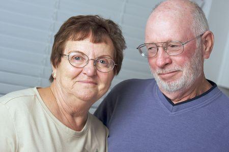 Happy Senior Adult Couple Portrait Stock Photo - 3785935