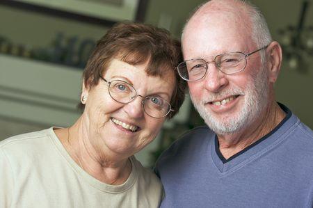 Happy Senior Adult Couple Portrait Stock Photo - 3785950