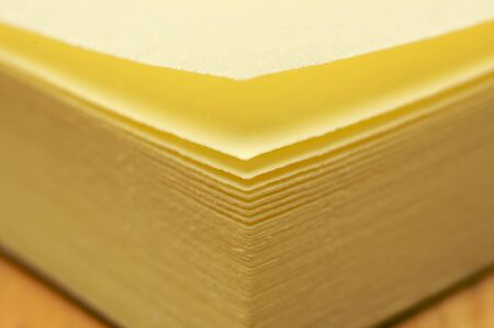 Post It Note Pad Abstract Macro with Narrow Depth of Field Stock Photo - 3804150