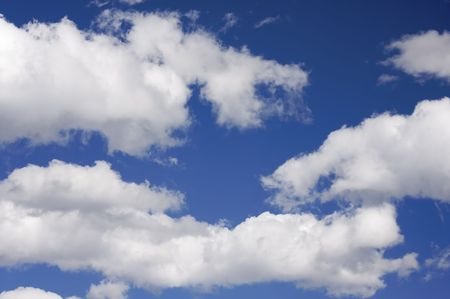 Tranquil Clouds and Deep Blue Sky
