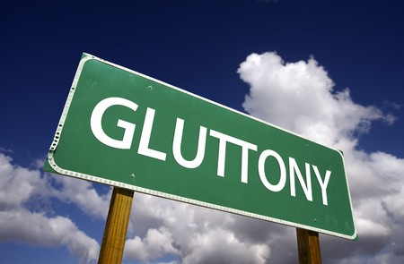 devouring: Gluttony Road Sign - 7 Deadly Sins Series