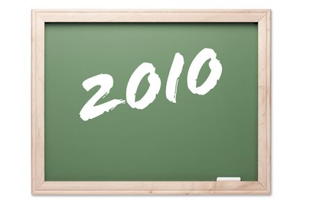 notification: Chalkboard Series Isolated on a White Background - 2010 Stock Photo