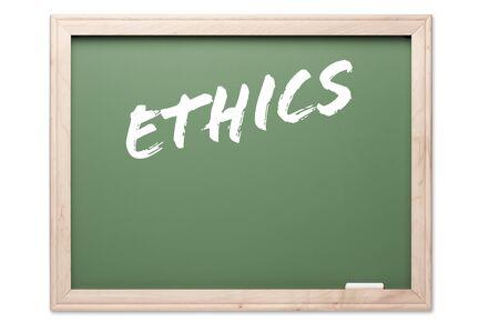 valores morales: Serie Pizarra aislados sobre un fondo blanco - �tica.