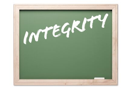 Chalkboard Series Isolated on a White Background - Integrity. photo