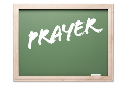Chalkboard Series Isolated on a White Background - Prayer. Stock Photo - 4221380