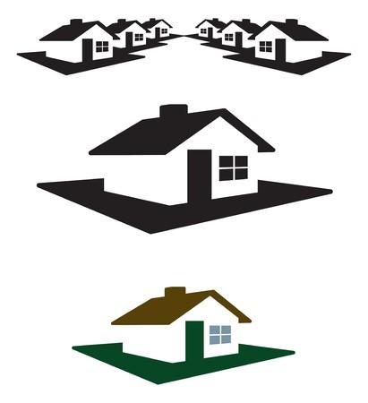 Huis logo en kop klaar voor uw tekst en kleur.