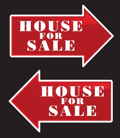 house for sale: House For Sale Real Estate Sign Arrows.