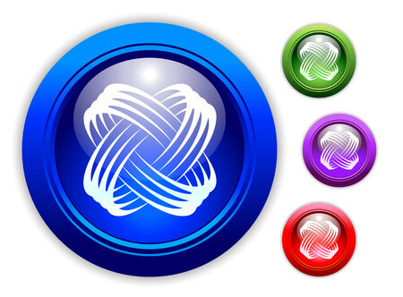 Universal Dynamic Icon Button Set of Four Different Colors.