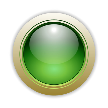 vector button: Green Glossy Vector Button Illustration Illustration