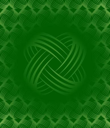 Green Tileable Wallpaper Background Pattern. Vector