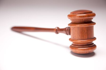 Gavel on Gradated Background with Selective Focus.