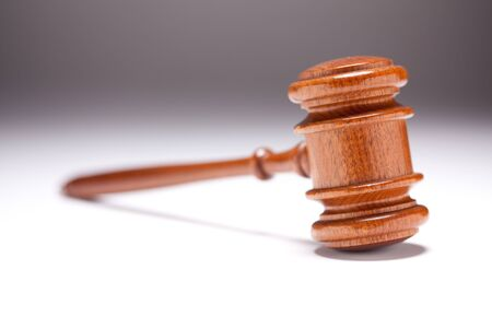 Gavel on Gradated Background with Selective Focus. photo