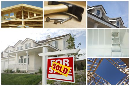 Construction and Real Estate Themed Variety Collage. photo